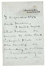 More details for 2nd baron chelmsford - commanded army in kaffir & zulu wars - rare letter