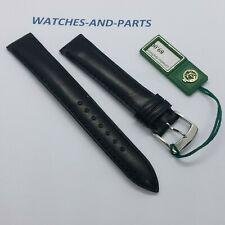 Black Calf Leather Strap 15mm 15/14 NEW GENUINE ORIGINAL Kaufmann