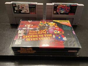 Super Mario RPG (SNES) CIB w / Loose Chrono Trigger and Super Metroid Authentic