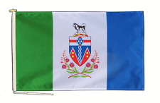 More details for yukon canada flag with rope and toggle - various sizes