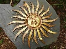 Sonne Metall braun gold Wanddekoration Wandbild Gartendeko 48 cm