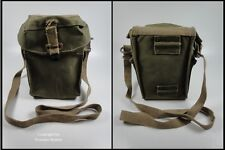 Original British Army WWII Gas Mask Bag Olive Green Cotton Original Stamped !!!!