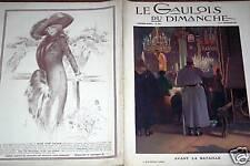 LE GAULOIS DU DIMANCHE 1912 N° 180 AVANT LA BATAILLE