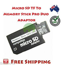 New Micro SD SDHC TF to Memory Stick MS Pro Duo Reader PSP Adapter Converter AU