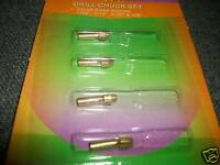 "ROTARY TOOLS DRILL BRASS CHUCK COLLET HOLDER SET 1/8"" 3/32"" 1/16"" 1/32"""