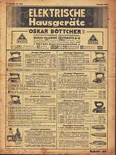 BERLIN, Prospekt 1935 Oskar Böttcher KG OBETA Batterien Bügeleisen Kaffee-Maschi