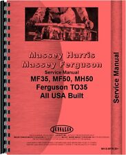 Massey Harris 50 Tractor Service Manual (1955-1956) MH-S-MF35,50+