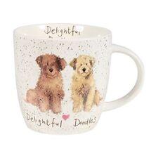 Alex Clark Fine China Squash Mug - Dog - Delightful Doodles - Labraddodle