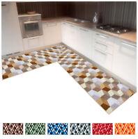 Tappeto cucina tridimensionale angolare o corsia su misura al metro mod.FAKIRO33