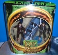 Lord Of The Rings Fellowship 2 Pack Frodo & Samwise w Elven Boat MIP Toybiz 2001