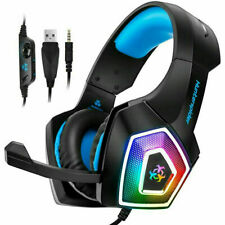 Hunterspider Stereo Bass Surround Gaming Headset for PS4 Xbox One PC Mic USA