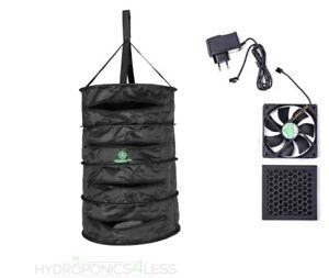 HerbDryer With Built Fan Odour Control Filter Dry Net Hydroponics 30cm 60cm