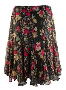 Lauren Ralph Lauren Women's Plus Size Multi Floral Georgette Skirt