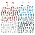 200-Piece Military Figures Set, Toy Soldiers Army in 4 Colors, World War II