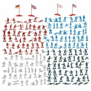 200 Pieces Army Men Toys Soldiers for Kids Military Action Figures Play Set WWII