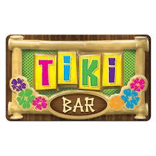 beistle 3-D Plastic Tiki Bar Sign