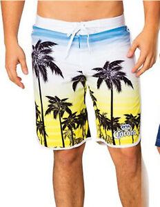Men's Corona Extra Beer Board Palm Tree Shorts Swim Trunk Cerveja