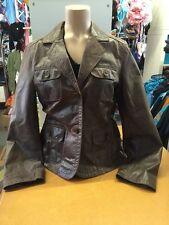 Esprit Lederjacke Echt Leder Braun Blazer Jacke Vintage Gr 42 1A
