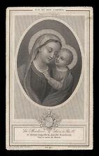 santino incisione 1800 MADONNA DEL BUON CONSIGLIO