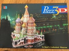PUZZ-3D St-Basil's Cathedral Jigsaw Puzzle 708 pcs Moscow Milton Bradley MB 1997