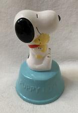 Willitts Ceramic Peanuts Snoopy & Woodstock Music Box 9304 Puppy Love