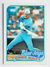 Ernie Whitt #289 Topps 1989 Baseball Card (Toronto Blue Jays) VG