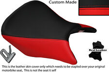 RED & BLACK CUSTOM FITS HONDA CB 500 13-14 FRONT LEATHER SEAT COVER ONLY