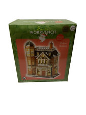 Santas Workbench Classic Series Lighted Porcelain House Police Station 2002