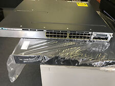 CISCO WS-C3750X-24T-S Switch w/ 1 x C3KX-NM-1OG & Dual C3KX-PWR-350WAC