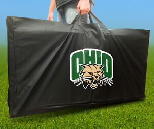 OHIO BOBCATS Licensed CORNHOLE Board CARRYING CASE Storage Carry Bag