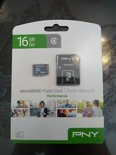 PNY 16GB MICROSDHC PERFORMANCE CARD NEW IN PACKAGE