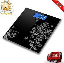 Digital Body Weight Scale 400 lb Electronic LCD Bathroom Fitness Fat Health NEW