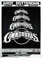 COMMODORES 1992 TOUR ROTTERDAM CONCERT POSTER