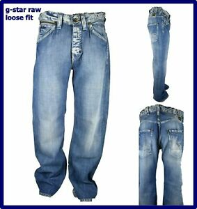 g star raw jeans da uomo larghi pantaloni g-star a gamba larga hip hop rap baggy