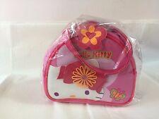 New Sanrio Kimono Hello Kitty Hand Bag Pink Zipper Closure Butterfly
