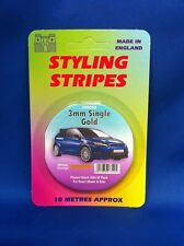 Styling Coachline Gold Racing Pin Stripe Single 3mm 10 metres long