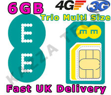 EE 4G PAYG 3 MONTHS INTERNET TRIO-CUT SIM CARD WITH 6GB FREE DATA PRE-LOADED 3G