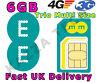 EE 4G PAYG 3 MONTHS INTERNET TRIO-CUT SIM CARD WITH 6GB FREE DATA PRE-LOADED 3G