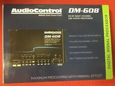 AUDIOCONTROL DM-608 PREMIUM 6 INPUT 8 OUTPUT DSP DIGITAL SOUND MATRIX PROCESSOR
