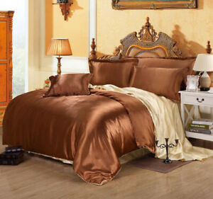 2021 new Luxury ice silk bedding set single double large king size 4pcs / 6pcs