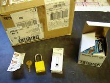 Case of 36 MASTER LOCK 410KAW400YLW Lockout Padlocks, KA, Yellow, 1/4 In. Dia.