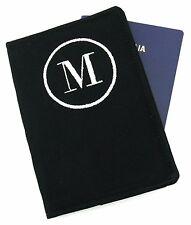 Men's Personalised Initial Passport Cover, Monogram Embroidered Passport Holder