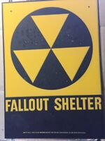 Official Government Issue 1960's Vintage Fallout Shelter Sign With Blemishes