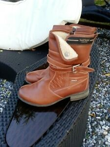 Mid Tan JOSEF SIEBEL Leather Boots UK 7 Top Dry Tex Exc Cond