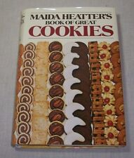 MAIDA HEATTER BOOK OF GREAT COOKIES COOKBOOK 1977 HC RECIPES & HOW-TO'S