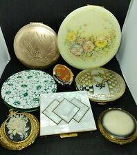 Lot of 8 Vintage Compacts~Rex Fifth Ave~Elgin~Cameo~Lin-Bren