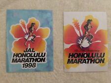 Honolulu Marathon JAL 1998 and 25th Anniversary Stickers Decals Hawaii