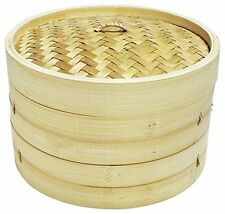 Bamboo Steamer Set with 2 Steamer bodies & 1 Cover.