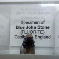 BLUE JOHN NATURAL CALCITE one CRYSTAL LAYERS PEAK DISTRICT Derbyshire UK Gift