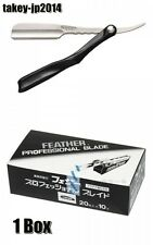 Feather Club Professional Blade PB-20 1 Box Artist Club Folding Razor Black Set